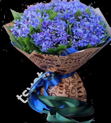 Букет с доставкой по москва васильки, романтические букеты цветов